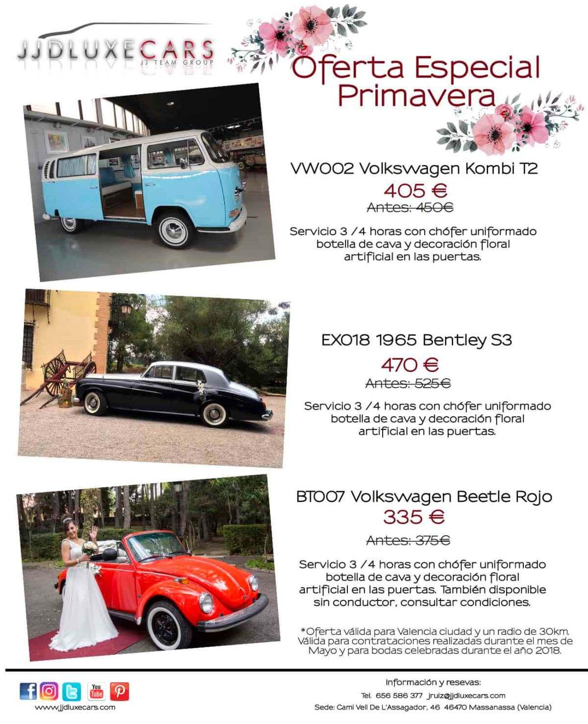 alquiler coches clasicos bodas eventos rodajes valencia oferta primavera jjdluxe cars p1