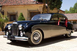 alquiler coches clasicos para boda jaguar mk II jjdluxe cars valencia vanesa carrion