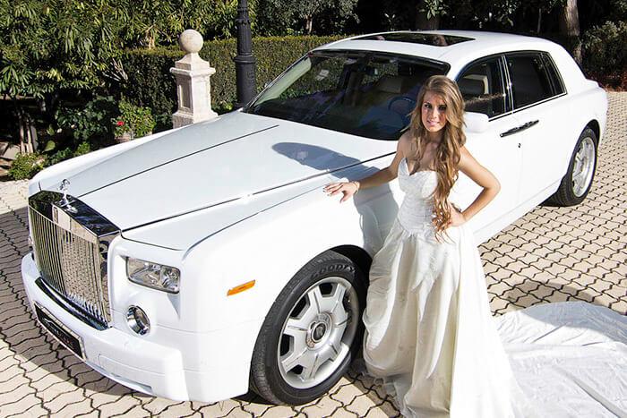alquiler de rolls royce phantom blanco en valencia 2007 bodas eventos rodajes jj dluxe cars