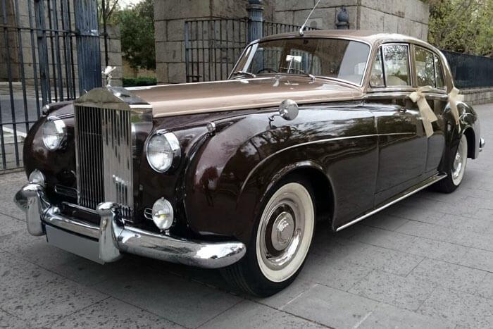 alquiler de rolls royce silver cloud marron 1961 bodas eventos rodajes jj dluxe cars valencia portada