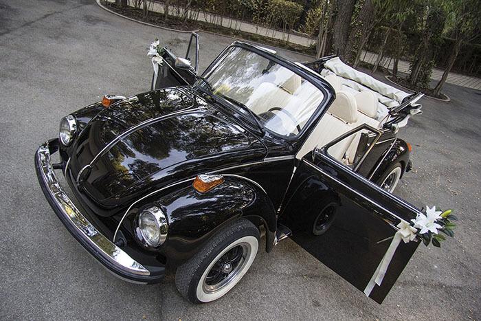 volkswagen vw beetle escarabajo cabrio descapotable 1979 negro alquiler de coches para bodas eventos y rodajes en valencia jjdluxe cars