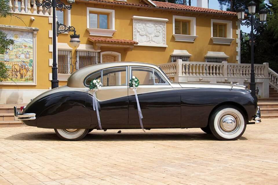 alquiler de jaguar mk vii dorado 1957