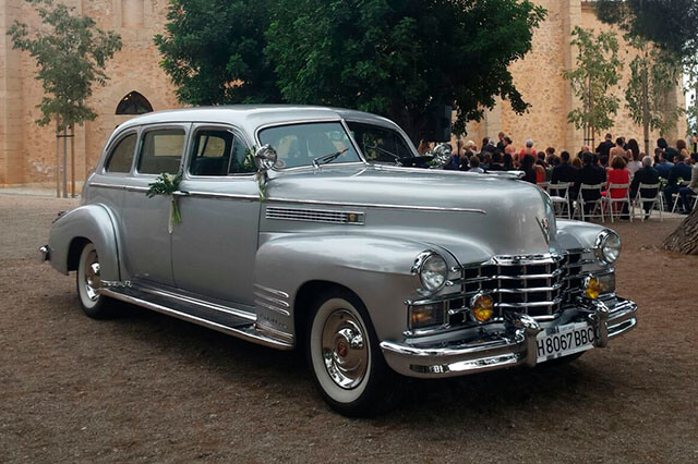 alquiler cadillac deville sedan plata 1949 coches clasicos antiguos vintage bodas eventos rodajes valencia jjdluxe cars