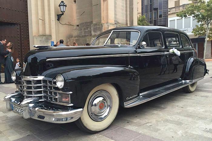 alquiler de cadillac deville sedan negro 1947 bodas eventos rodajes jj dluxe cars alicante portada