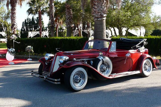 alquiler de duesenberg r rojo 1933 en valencia bodas eventos rodajes jj dluxe cars