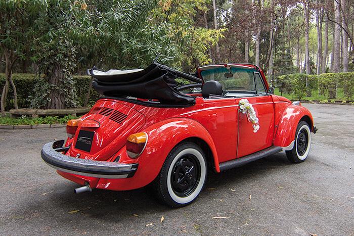 alquiler de escarabajo volkswagen beetle rojo 1973 en valencia bodas eventos rodajes jj dluxe cars 2