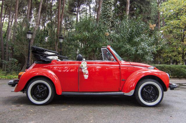 alquiler de escarabajo volkswagen beetle rojo 1973 en valencia bodas eventos rodajes jj dluxe cars 7