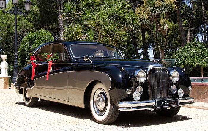 alquiler de jaguar mk ix negro dorado 1960 coches clasicos antiguos vintage para bodas eventos y rodajes en valencia jjdluxe cars