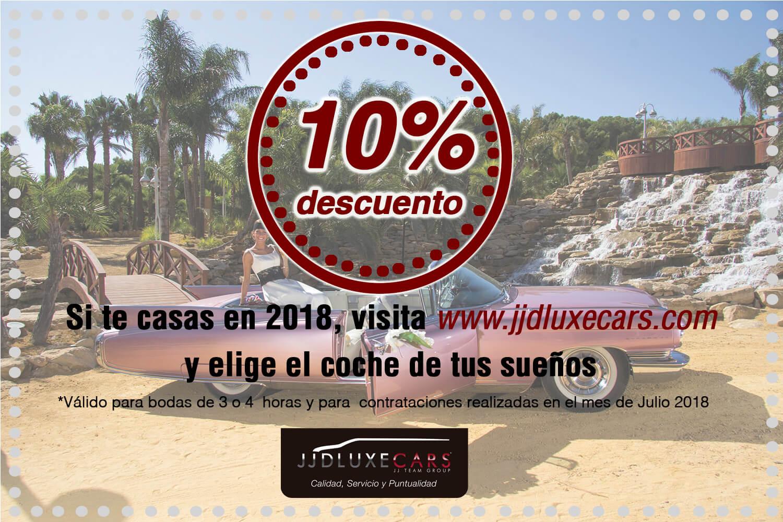 promocion descuento julio 2018 jjdluxe cars alquiler de coches para bodas eventos rodajes