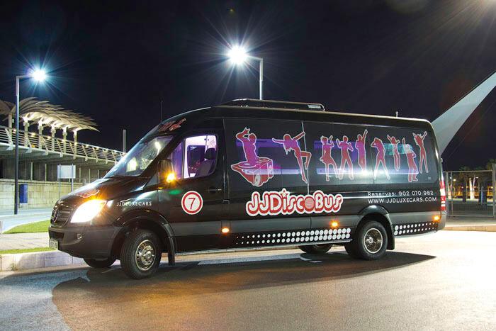 alquiler de coches para bodas disco bus eventos rodajes jjdluxe cars valencia coleccion 7