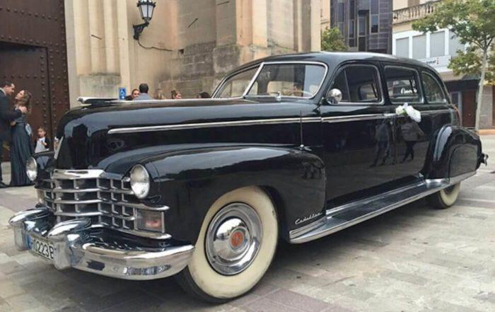 alquiler de cadillac en valencia deville sedan 1947 negro coches clasicos antiguos vintage bodas eventos rodajes jjdluxe cars