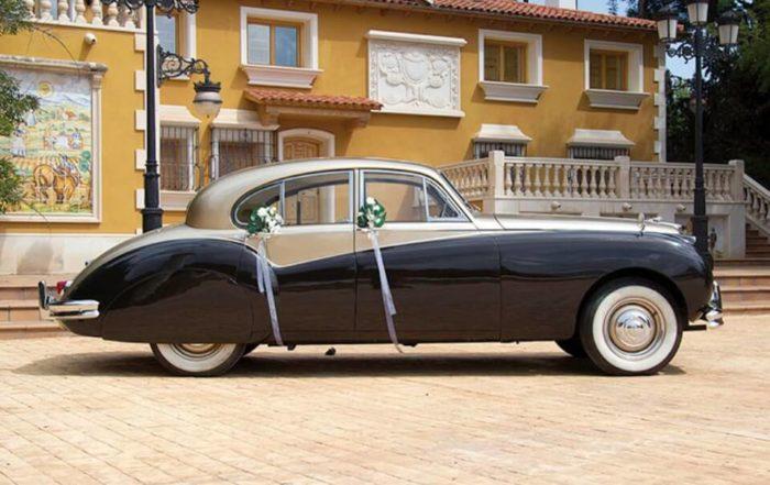 alquiler de jaguar para bodas en valencia mk vii dorado 1957 coches clasicos antiguos vintage eventos rodajes jjdluxe cars